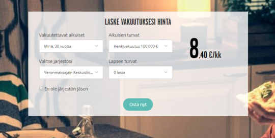 Henkivakuutuskuntoon.fi laskuri
